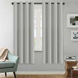 H.VERSAILTEX White Curtains Blackout Thermal Insulated Room Darkening Curtain Panels – Win ...