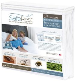 SafeRest Premium Low Profile Box Spring Encasement – Lab Tested Bed Bug Proof, Dust Mite P ...
