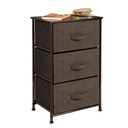 MetroDecor mDesign Fabric 3-Drawer Dresser and Storage Organizer Unit for Bedroom, Dorm Room, Ap ...