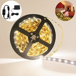 Zoross 【2nd Generation Led Strip Lights Kit White 16.4 Ft (5M) 360 leds Kit with 3A Power Suppl ...