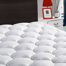 "Queen Overfilled Mattress Pad Cover 8-21""Deep Pocket-Cooling Mattress Topper Snow Down Alternative"