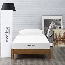 Modway Aveline 6″ Gel Infused Memory Foam Twin Mattress With CertiPUR-US Certified Foam &# ...