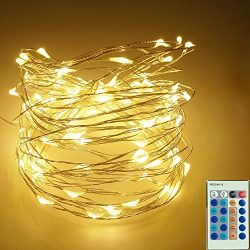 Cakuja Dimmable String Lights Copper Wire Lights, Décor Rope Lights For Seasonal Decorative Chri ...