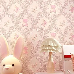 Non-Woven Self Adhesive Contact Paper Film Decorative Peel and Stick Wallpaper Roll for Kids Gir ...