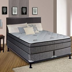 Continental Sleep Fifth Ave Collection, Fully Assembled  Mattress Set With 13″ Soft Euro T ...