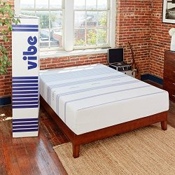 Classic Brands Vibe 12-Inch Gel Memory Foam Mattress, Twin