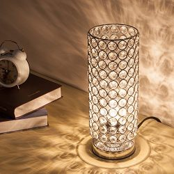 ZEEFO Crystal Table Lamp, Nightstand Decorative Room Desk Lamp, Night Light Lamp, Table Lamps fo ...