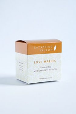 CatSpring Yaupon Box of Individual Tea Bags – Lost Maples Medium Roast Black Yaupon – ...