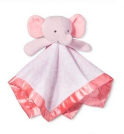 Pink Elephant Security Blanket