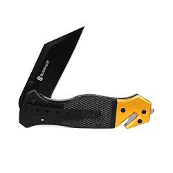 BladeMate Box Cutter: Folding Utility Pocket Knife with 3.5 Inch Stainless Steel Razor Blade, Tw ...