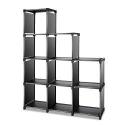 TomCare Cube Storage 9-Cube Closet Organizer Cube Organizer Storage Shelves Bookcase Bookshelf C ...