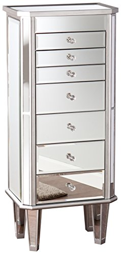 Southern Enterprises, Inc. Margaux Mirrored Jewelry Armoire Southern Enterprises Mirroredarmoire ...