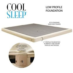 Lifetime sleep products 4″ Low Profile Box Spring great for Memory Foam Mattress, Full