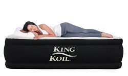 King Koil CALIFORNIA KING Luxury Raised Airbed with Built-in 120V AC High Capacity Internal Pump ...