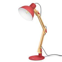Tomons Nature Wood Swing Arm Desk Lamp, Nordic Designer Table Lamp, Reading Lights for Living Ro ...