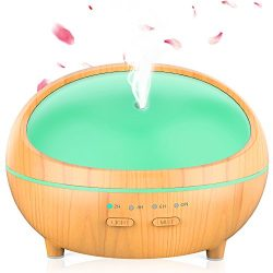 Essential Oil Diffuser, 300ml Aromatherapy Diffuser for Essential Oils Aroma Diffuser, Ultrasoni ...