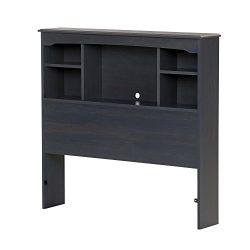 "South Shore Aviron 39"" Bookcase Headboard, Twin, Blueberry"