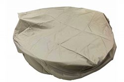 Dola Outdoor Round Dining Patio Furniture Cover in Beige All Weather Patio Furniture Round Cover ...