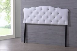 Wholesale Interiors Baxton Studio Rita Modern and Contemporary Faux Leather Upholstered Button-T ...