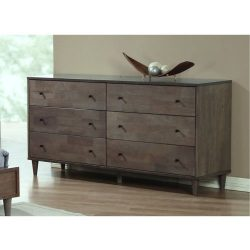 Vilas Light Charcoal 6-drawer Dresser. This Bedroom Furniture Features A Solid And Durable Wood  ...