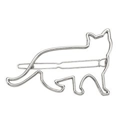 Botrong Hair Clip for Women, Cute Cat Clips Girls Hair Buckle Hairpin Headdress (Silver)