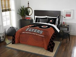 The Northwest Company Officially Licensed NHL Philadelphia Flyers Draft Full/Queen Comforter and ...