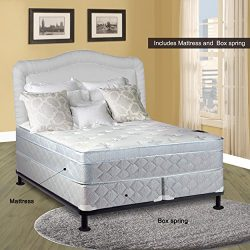 Spinal Solution Mattress, 10″ Pillowtop Eurotop, Fully Assembled Othopedic King Mattress a ...
