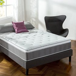 Zinus 12 Inch Performance Plus/Extra Firm Spring Mattress, Queen