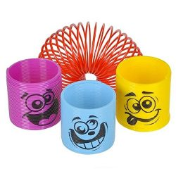 "25 Assorted Colorful 1.38"" Silly Face Spring Coil Slinkies ~ Miniature Fun Party Favors ~  ..."