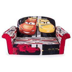 Marshmallow Furniture, Children's Upholstered 2 in 1 Flip Open Sofa, Disney Pixar Cars 3,  ...