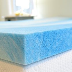 Advanced Sleep Solutions Gel Memory Foam Topper, King Size 2 Inch Thick, Ultra-Premium Gel-Infus ...