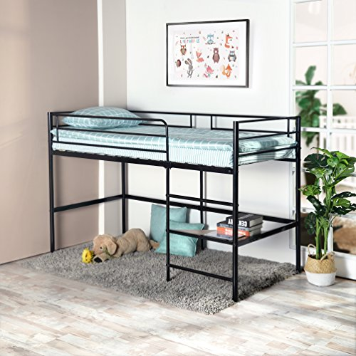 Greenforest Metal Loft Bed For Kids Twin Size Low Junior
