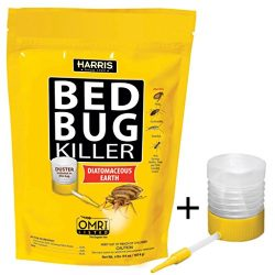 Harris Bed Bug Killer, Diatomaceous Earth Powder, Fast Kill with Extended Residual Protection (6 ...