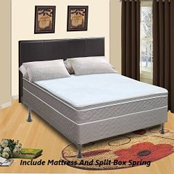 Spinal Solution 9″ Pillowtop Fully Assembled Orthopedic Mattress and Box Spring, Californi ...