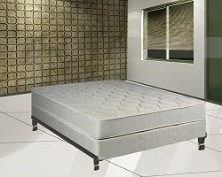 Continental Sleep Hollywood Collection Orthopedic Mattress and Box Spring with Bed Frame, Full