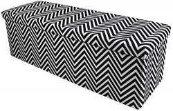 Sorbus Chevron Storage Ottoman Bench – Foldable/Collapsible with Lid Cover – Perfect Hassock, Fo ...