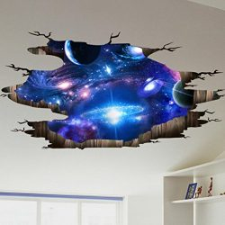 Lowprofile 3D Bridge Floor/Wall Sticker Removable Mural Decals Vinyl Art Living Room Decors (D)