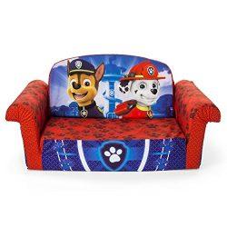 Marshmallow Furniture Children's 2 in 1 Flip Open Foam, Nickelodeon Paw Patrol Sofa Chair  ...