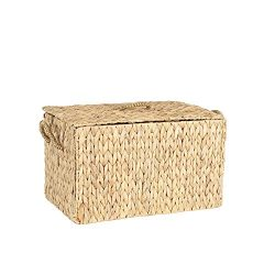 Household Essentials ML- 6610 Large Wicker Storage Box with Lid – 12.2″H x 20″ ...