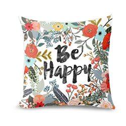 TiTCool 2018 Cushion Cover Hello Spring Home Decor Throw Pillowcase Pillow Covers 18×18 (J)