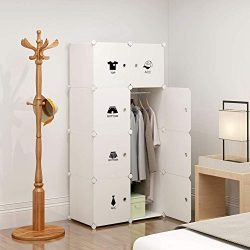 KOUSI Portable Clothes Closet Wardrobe Bedroom Armoire Dresser Cube Storage Organizer, Capacious ...