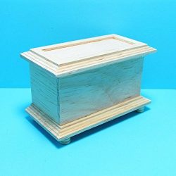 Dollhouse Miniature Unfinished Wood Blanket/Toy Chest in Wood CLA – My Mini Fairy Garden D ...