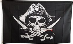 3×5 Super Polyester Dead Man's Chest Pirate Flag indoor Outdoor