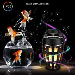 Led Flame Lamp Speaker For Bedrooms Bedside Lamp Waterproof Music Night Lights bed lamp 96 Led T ...