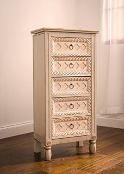 "Hives and Honey ""Abby"" Jewelry Armoire, Antique Ivory"