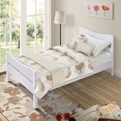 Merax. Wood Platform Bed Frame Twin Size Mattress Foundation, Headboard and Footboard Included/W ...