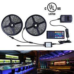 Miheal Led Strip Lights Kit 32.8 Ft (10m) 300leds Waterproof 5050 SMD RGB LED Flexible Lights wi ...