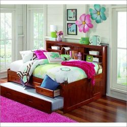 FULL BOOKCASE DAYBED – MERLOT