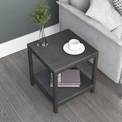 Dland Side End Table 15.7″, Composite Wood Board, Nightstand/Coffee Table/Couch Table For  ...