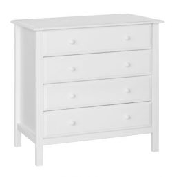 DaVinci 4-Drawer Dresser , White